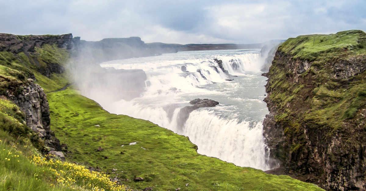 Gullfoss waterfall on Golden Circle tour
