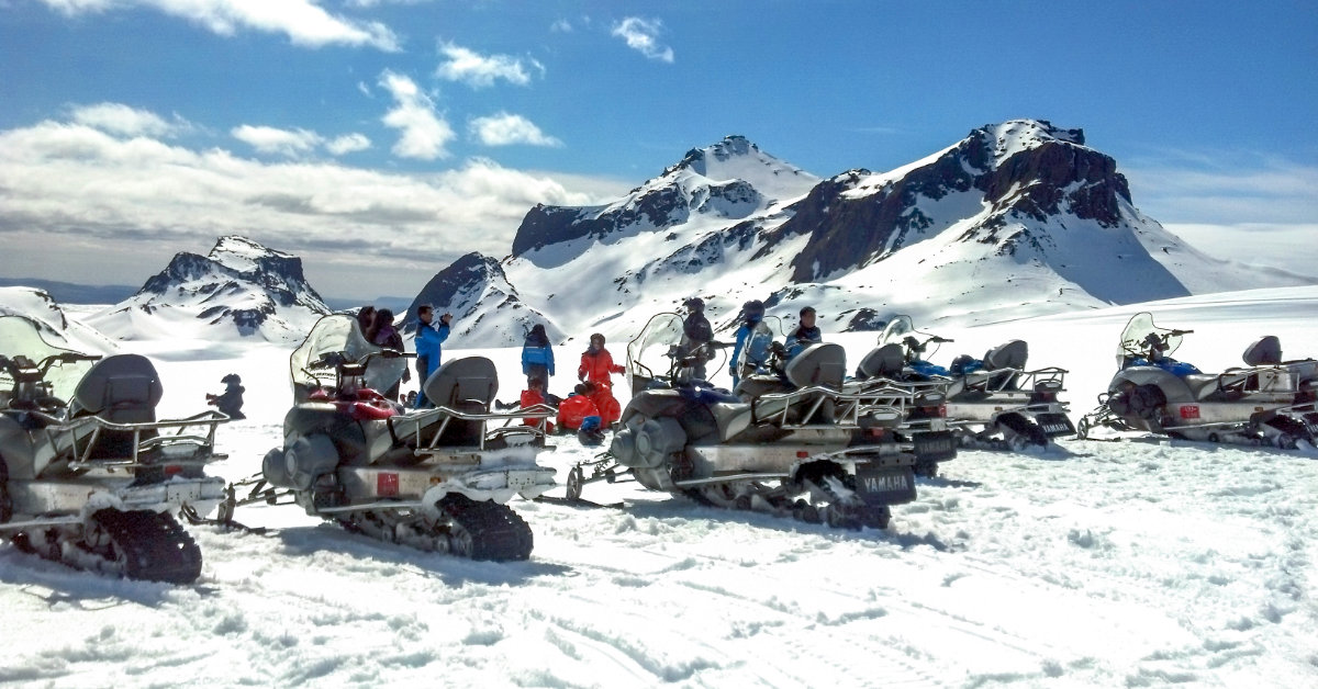 Snowmobile, Langjökull, Glacier, Mountaineers of Iceland, Golden Circle