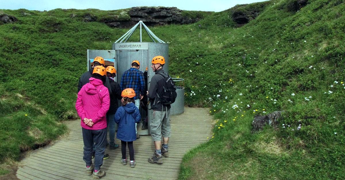 Vatnshellir cave, 8000 year old lava tub, Snaefellsnes, Hellnar, Bárður Snæfellsáss