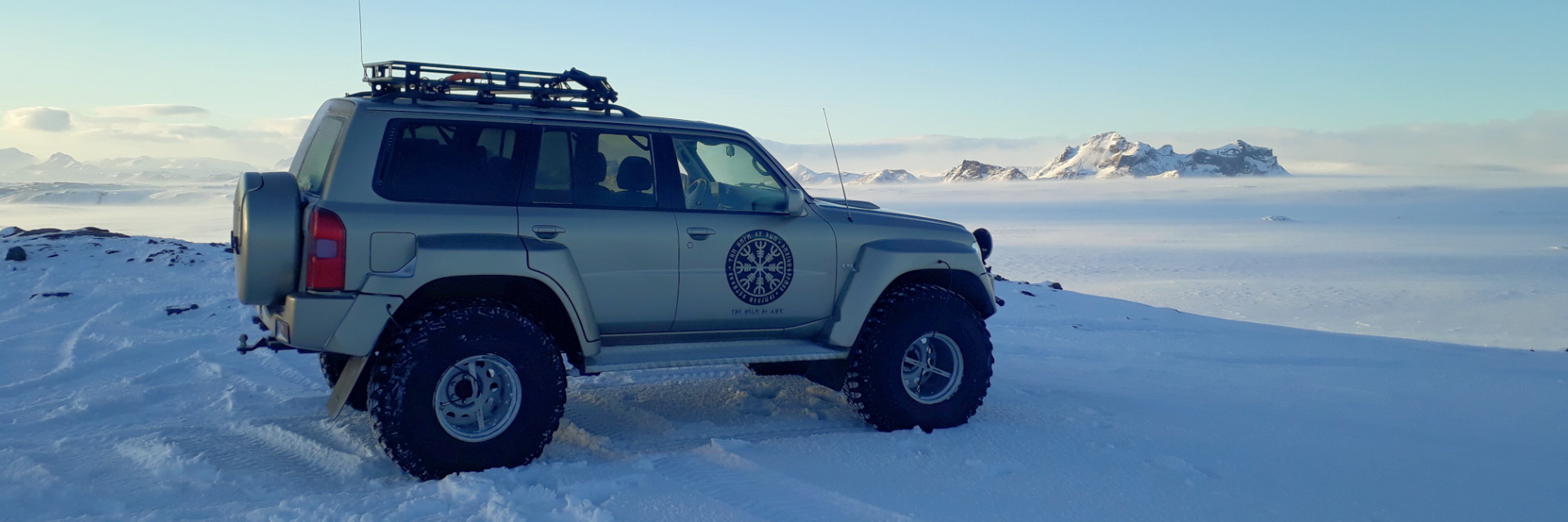 Nissan Patrol - Super Jeep at Langjökull Glacier